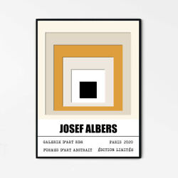Josef Albers Homage To The Square Josef Albers Art Print On Canvas/ Paper Poster