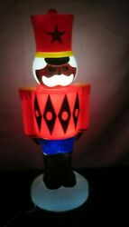 Christmas Blow Mold Toy Soldier Light Lighted Tabletop New 14