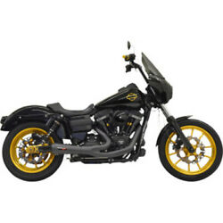 Bassani Road Rage Ripper 2 Into 1 Black Short Exhaust System Pipe Harley Dyna