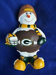 Nfl Green Bay Packers Vintage 8 Inch Forever Collectibles Football Snowman
