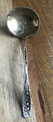 Extremely Rare E.p. Durando 1889 Sterling Silver Ladle W Engraving Gold Wash 30g