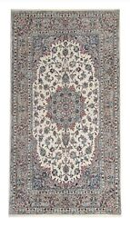 Vintage Hand-knotted Rug Oriental Cream Wool Carpet- Traditional Rug 150x285cm