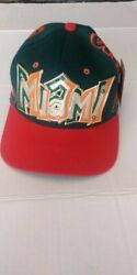 Htf Vintage 1990's Miami Hurricanes Snapback Hat New With Tag Magic By Bee