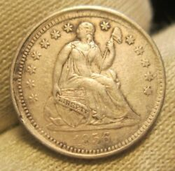 1856 Seated Half Dime Off Center