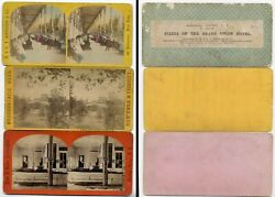 Lot Of 8 Saratoga Springs Ny Stereoviews C1868 - 1872 Incl E And Ht Anthony/ Baker