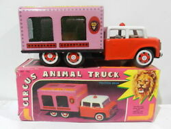 Vintage Tin Toy Friction Mf 782 Circus Animal Truck W/ Box 1970 Made In China
