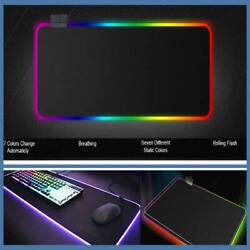 Computer Mouse Pads Oversized Glowing Led Illuminated Learn Work Table Mats Lot