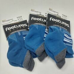 New Features Elite Cushion Sock W/ No Show Tab- Sizes M/l Assorted Colors-3pk