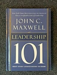 LIKE NEW Leadership 101: What Every Leader Needs to Know John Maxwell Hardcover