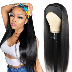 Long Headband Wig 30quot; Wig Straight Synthetic Wigs For Black Women Machine Made $19.99