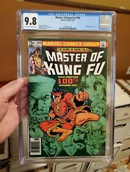 Master Of Kung Fu 100 - Cgc 9.8 - Shang-chi - Newsstand Variant 1981