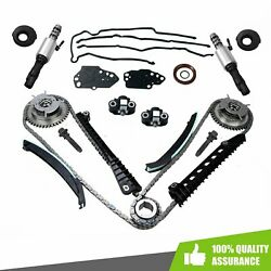 For 05-08 Ford 5.4l F150 F250 Timing Chain Kit Cam Phaser Timing +cover Seal Set