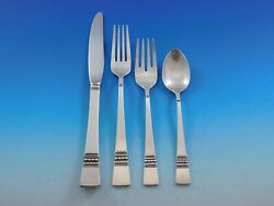 Diadem By Reed And Barton Sterling Silver Flatware Set For 6 Service 24 Pieces