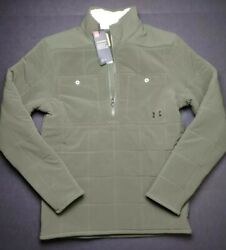 Under Armour Coldgear Latitude 1/2 Zip Quilted Sweater Menand039s Size S 1343261-315