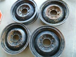 4 - 17and039and039x 5.5 8 Lug Steel Wheels 8x6.5 Patern Chevy Ford Dodge Truck. Set