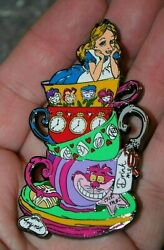 PIN ALICE IN WONDERLAND CHESHIRE CAT LIMITED EDITION JUMBO FANTASY IN TEACUPS