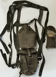 Us Army Military Field Canteen Water Bottle W/cloth Pouch Straps Field 1st Aid