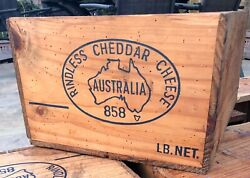 Vintage Wooden Australian Rindless Cheddar Cheese Crate/box C19/5060