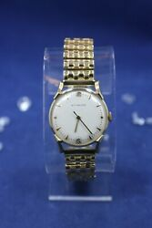 Wittnauer 14kt Solid Gold Vintage Watch Case Wind-up - Running - And039and039as Is Read