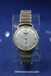 Vintage Longines Automatic Solid 14kt Gold Case Watch - Running - As Is Read