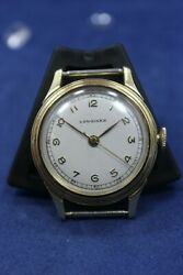 Longines Vintage Solid 14kt Gold Case Watch Hand-winding - Running As Is Read