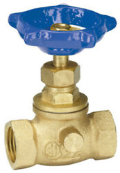 Homewerks 220-2-12-12 Lead-free Brass Stop And Waste Valve With Drain, 1/2 Fip