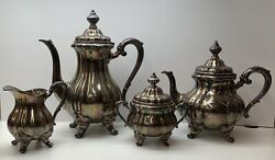 Antique Sterling Silver Tea Set 1766 Grams Jb And Sm Knowles
