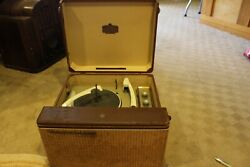 Vintage 1950s Rca Victor Orthophonic High Fidelity Record Player Model 8-hfp-1