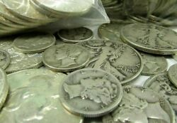 Nice 90 Silver Coins, Not Junk - Sets Of 1/2 Oz Lots Free Mercury Dime M99