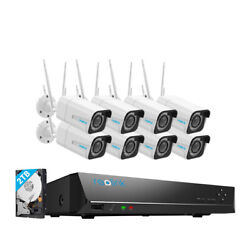 Reolink Ip66 Waterproof Home Wireless Camera System 8ch Nvr Kit 2tb Hdd Included