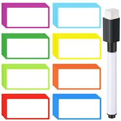 32 Pieces 4 X Inches Magnetic Dry Erase Labels Name Plates Tags With Marker Pen