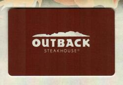 Outback Steakhouse Collectible 2015 Gift Card 0