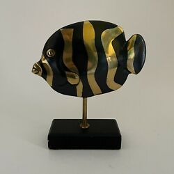 Rosenthal Netter Numbered Mid Century Brass Fish Sculpture. Made In Korea