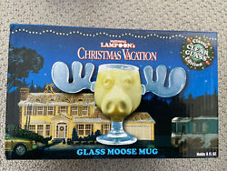 National Lampoons Christmas Vacation Clark Griswold Clear Glass Moose Mug Nib