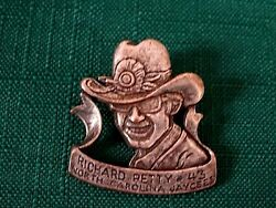 RICHARD PETTY #43 NORTH CAROLINA JAYCEES PEWTER CLUTCH BACK PIN #1490 $19.99
