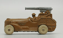 Barclay Larger Cannon Car Vintage Military Dimestore Vehicle