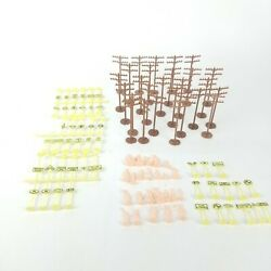 Model Train Set Vintage Style Railroad Signs Telephone Poles And People 98 Piece