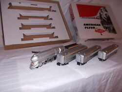 American Flyer 5306t Silver Bullet Train Set In Reproduction Box Lot M-54