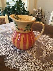 Southern Living At Home Gail Pittman Siena Water Serving Pitcher New