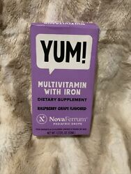 NovaFerrum Multivitamin with Iron for Infants and Toddlers Raspberry Grape 06 21