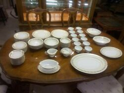 Mid Century Discontinued Noritake Porcelain Complete 12 Piece China Set