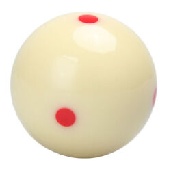 2-1/4 Regulation Size 6 Red Dots Billiard Practice Training Pool Cue Ball