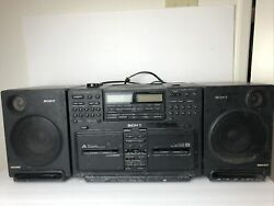 Sony Cfd-770 Cd Radio Cassette-corder Vintage Boombox
