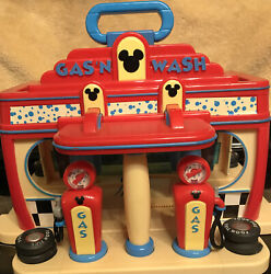 Disney Gas N Wash Car Station Play Set Mickey Mouse Clubhouse Station Toy Goofy