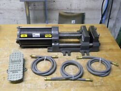 Heinrich Double Acting Air Vise 6 Jaw Width 7-3/8 Opening Da-6601 Parts/repair