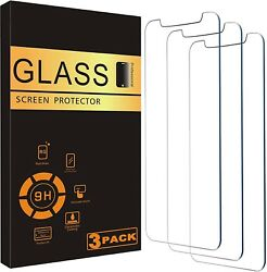 For iPhone 12 11 Pro Max XR X XS Max 8 7 Tempered GLASS Screen Protector 3 PACK $5.89