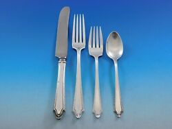 Virginia Carvel By Towle Sterling Silver Flatware Set For 8 Service 36 Pieces