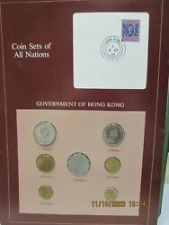 Hungary Set In Franklin Mint Coins Of All Nations Card. 10 Pc 1983-84
