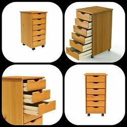 Wood Rolling Craft Storage Drawers
