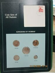 Norway Set In Franklin Mint Coins Of All Nations Card 5pc. 1983